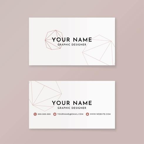 Girlie graphic design business card