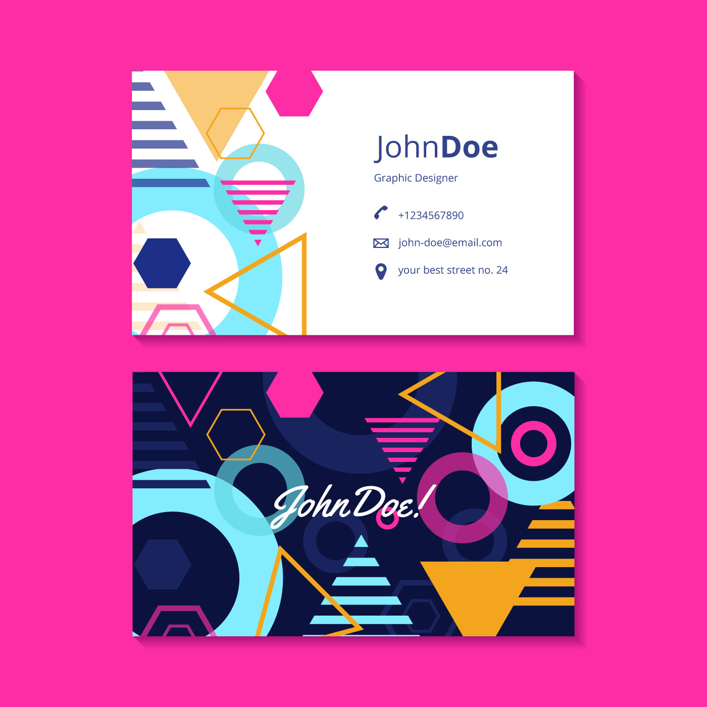Graphic design business card template download free for Graphic design business card templates