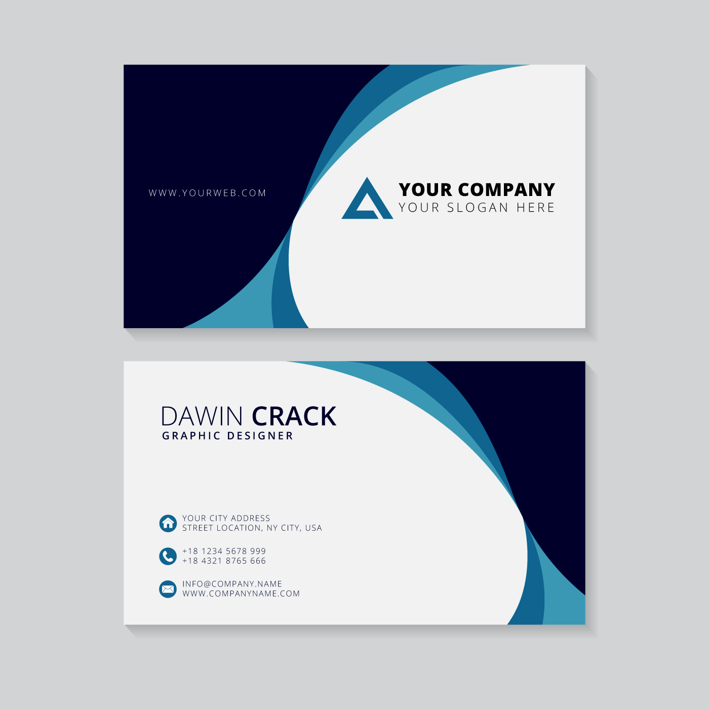 Business Card Template Vector: Creative Business Card Template