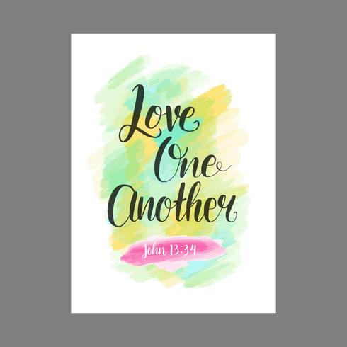 Love One Another Lettering Typography vector