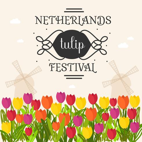 Netherlands Tulip Festival Poster Vector - Download Free Vector Art, Stock Graphics & Images