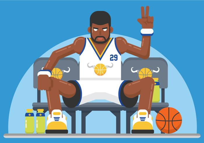 Exaggerated basketball player vector