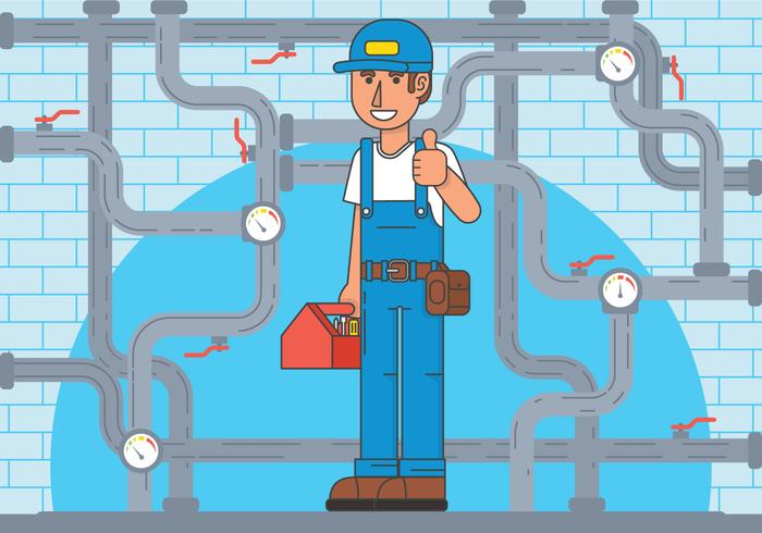 Repair man vector