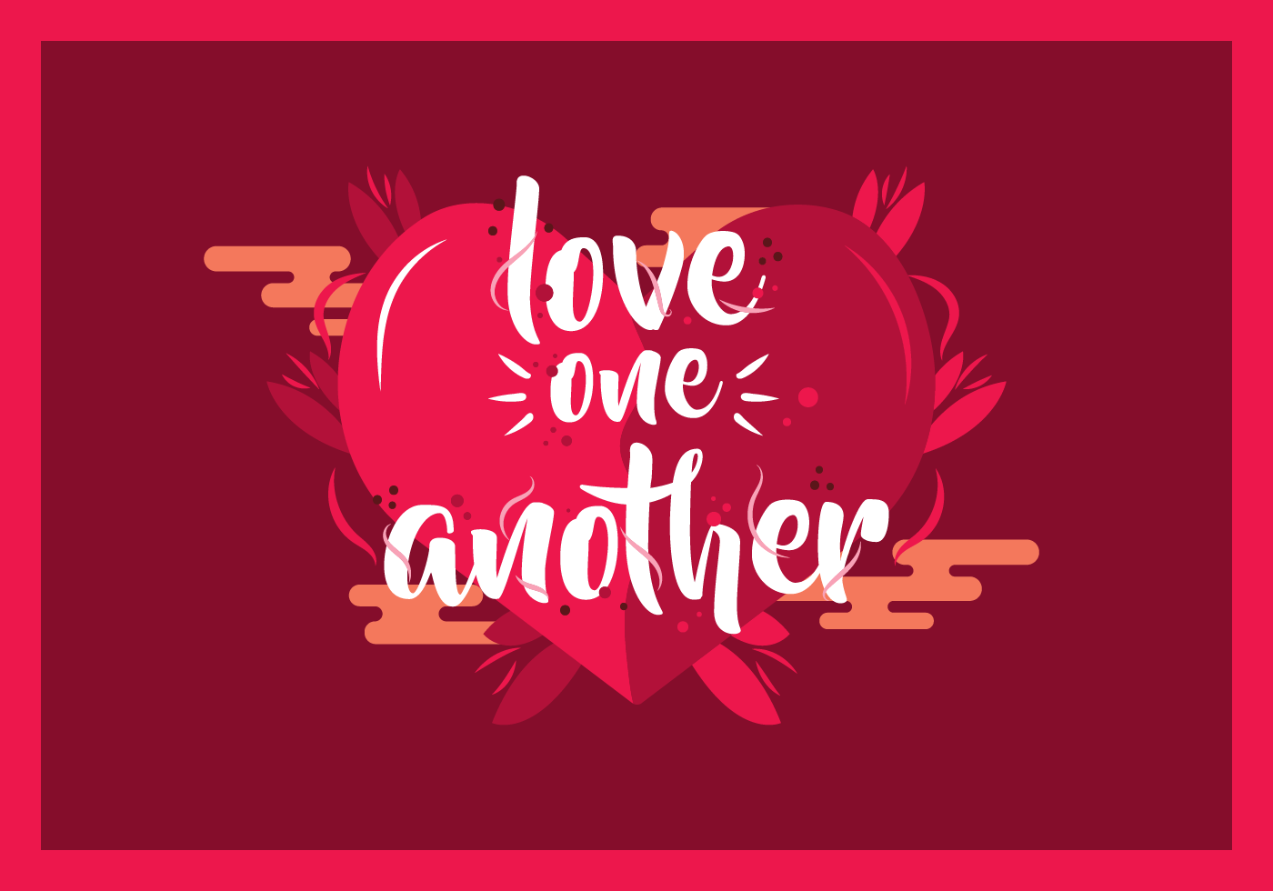 Love One Another: Love One Another Typography Vector