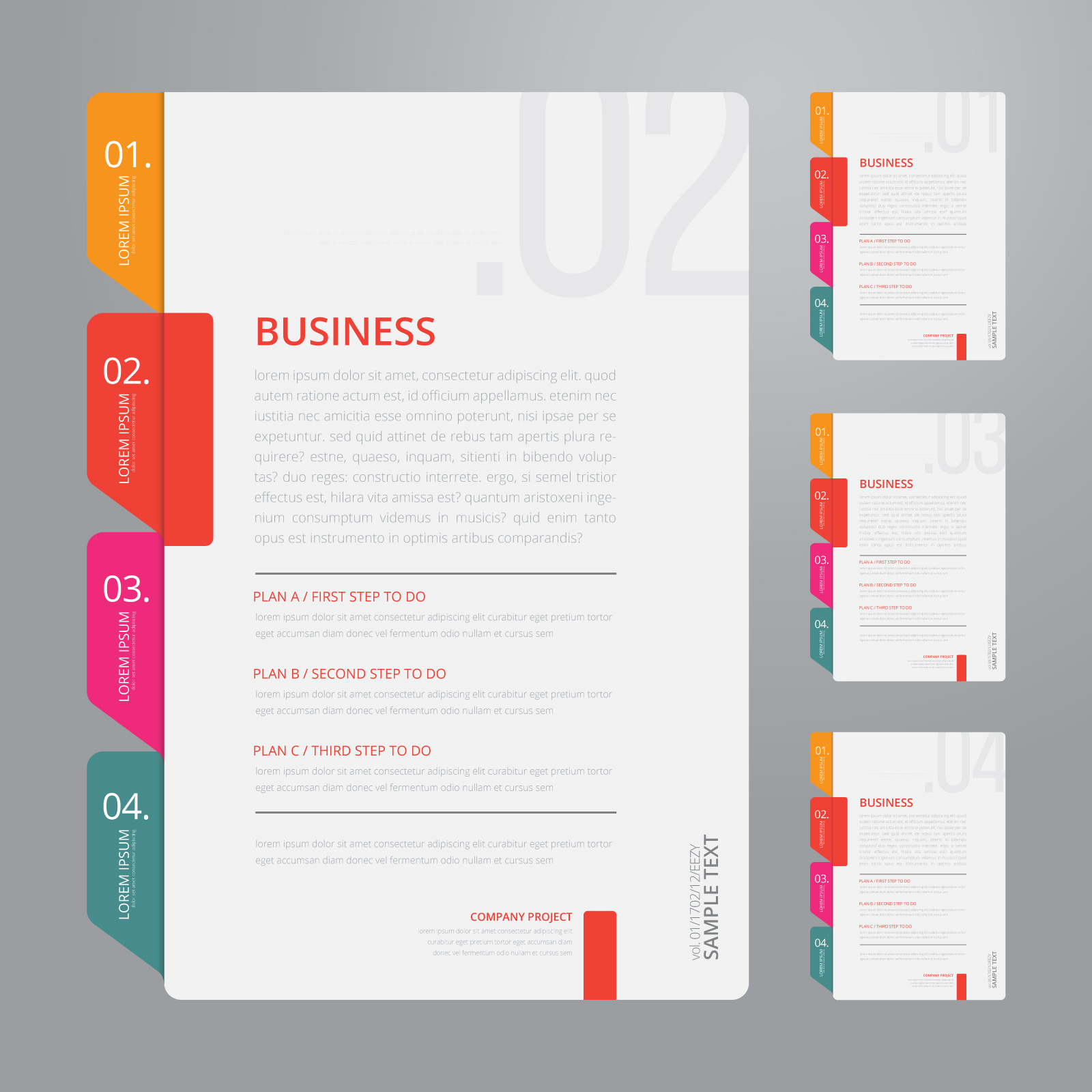 Vector Infographic Index Paper with White Background Template ...