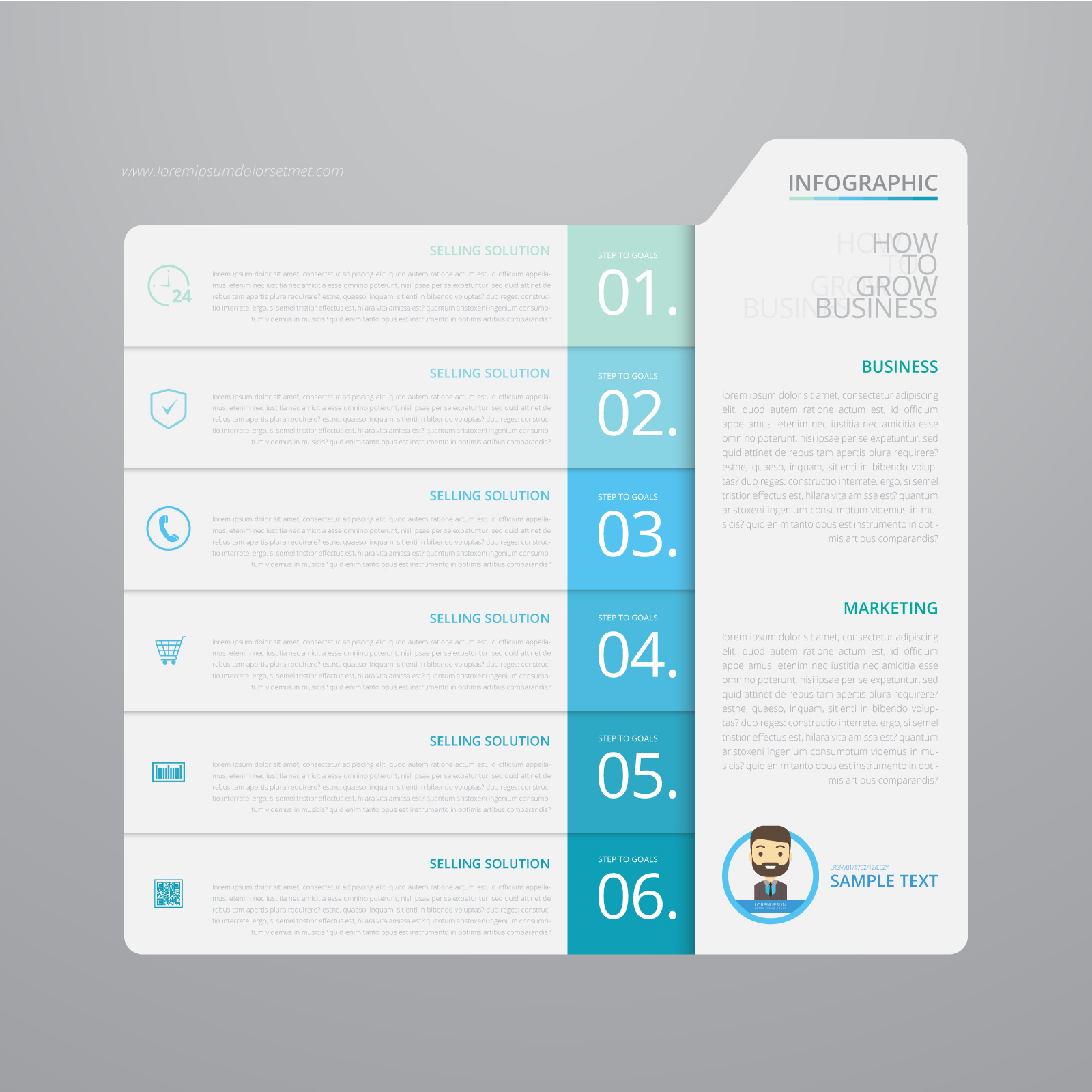 business format cover letter%0A Vector Infographic Index Paper with Black Background Template