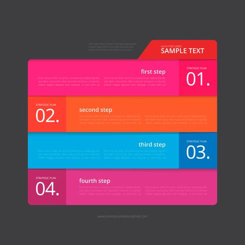 Vector Infographic Index Paper with Black Background Template.