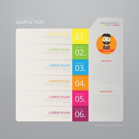 Vector Infographic-Indexdocument met Zwarte Achtergrondmalplaatje.
