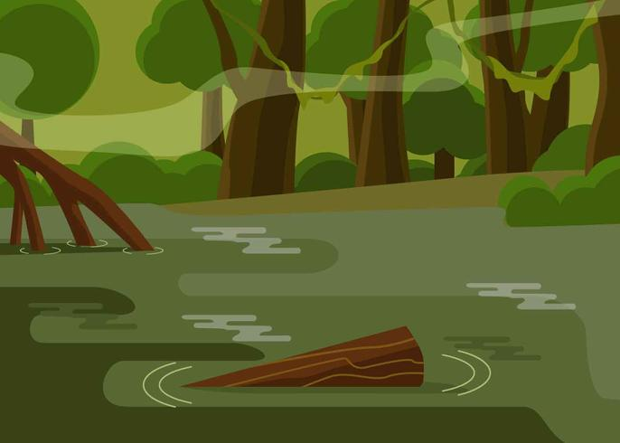 Bayou Illustratie Vector