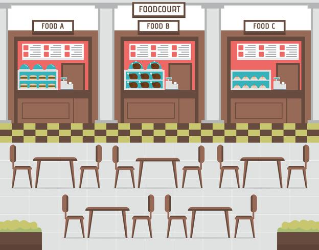 Food court vector