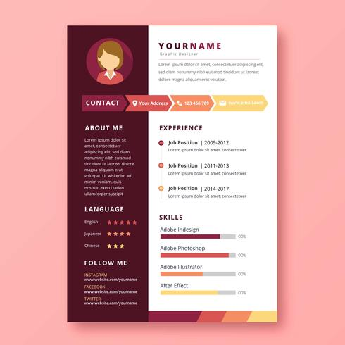 Graphic Designer Resume Download Free Vector Art Stock