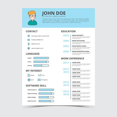 Grafisk Designer Resume Vector