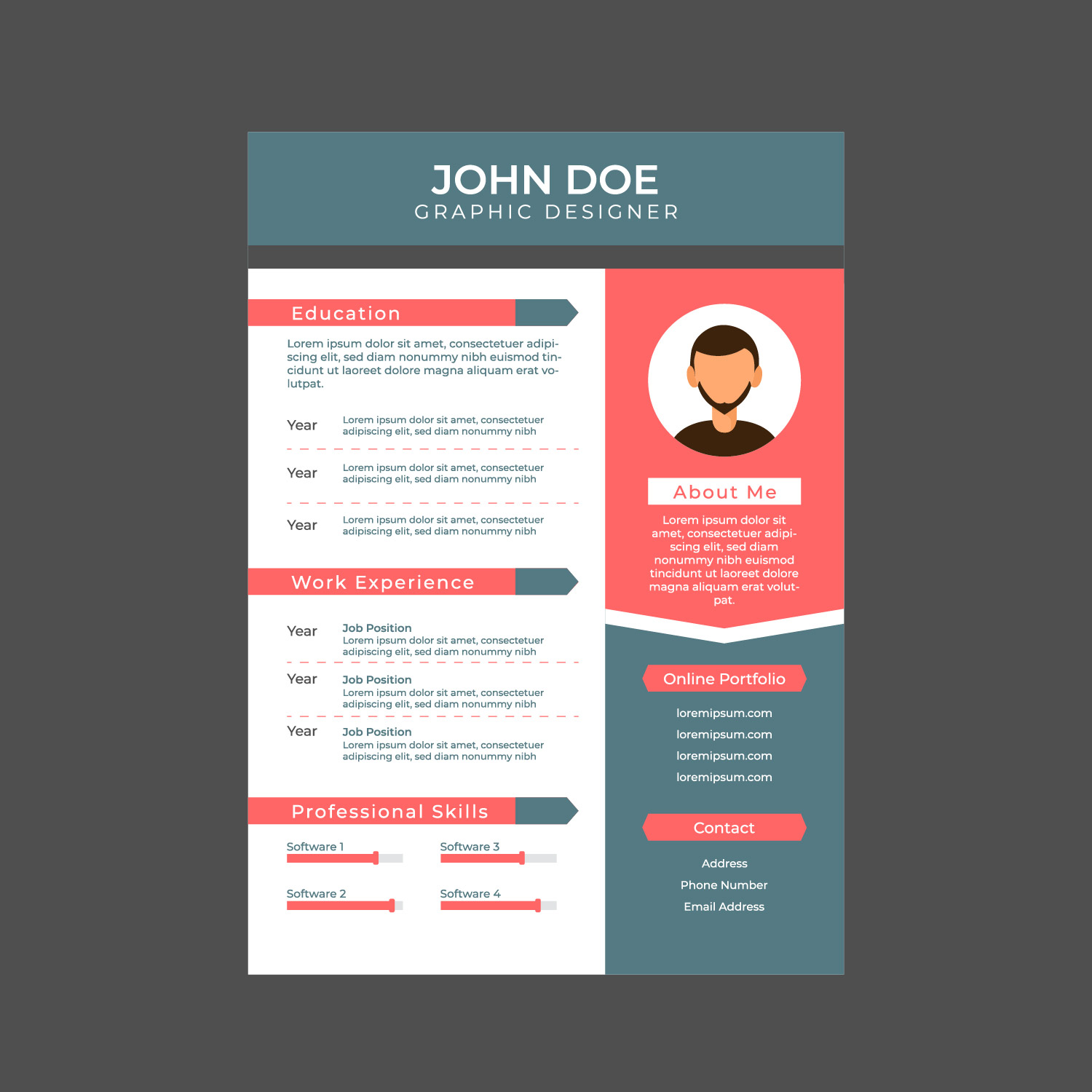 graphic designer resume  a4 size