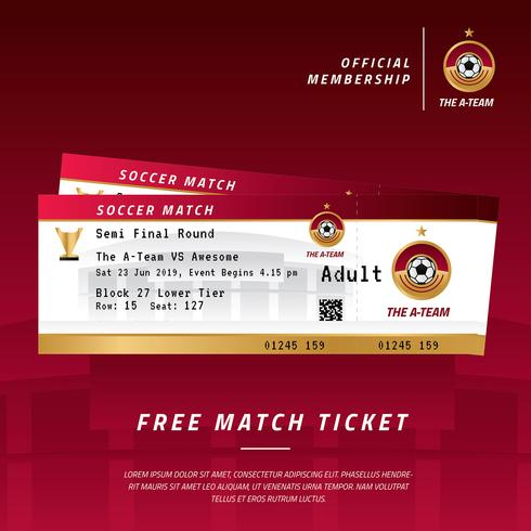 Soccer Event Ticket Vector
