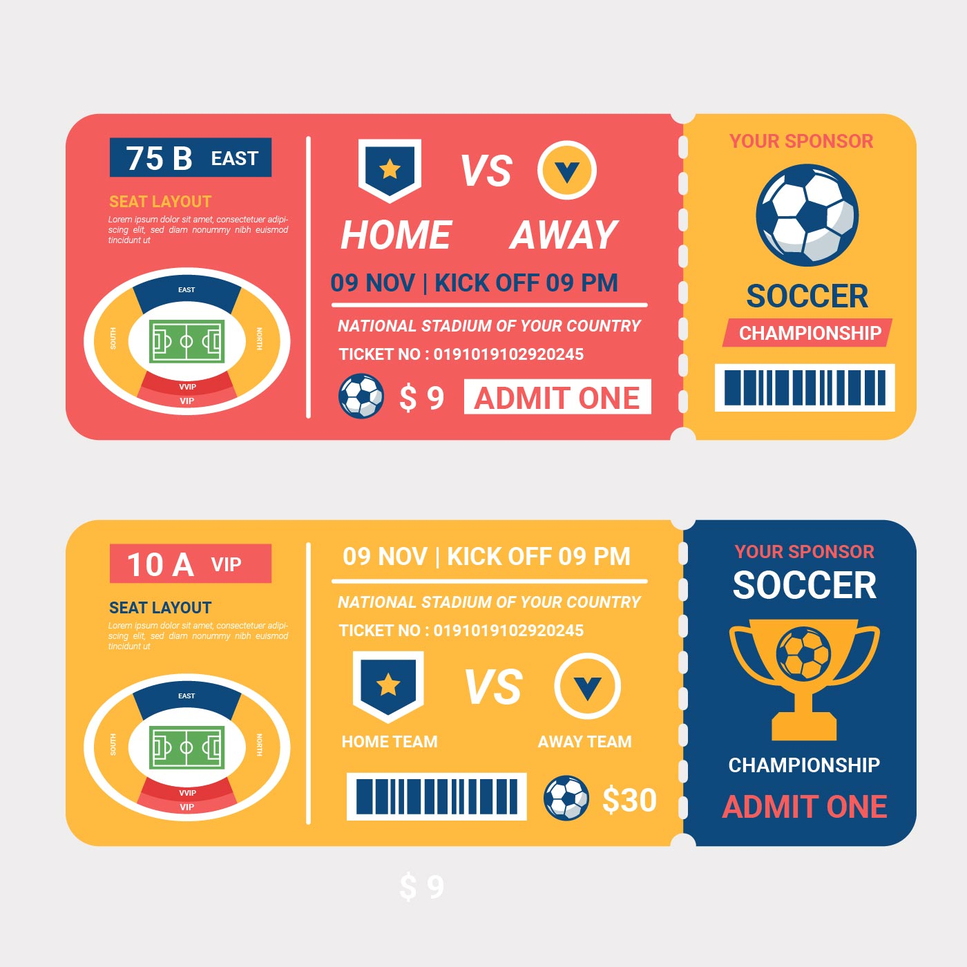 Fußball-Championship-Ticket-Vektor - Kostenlose Vektor-Kunst, Archiv ...
