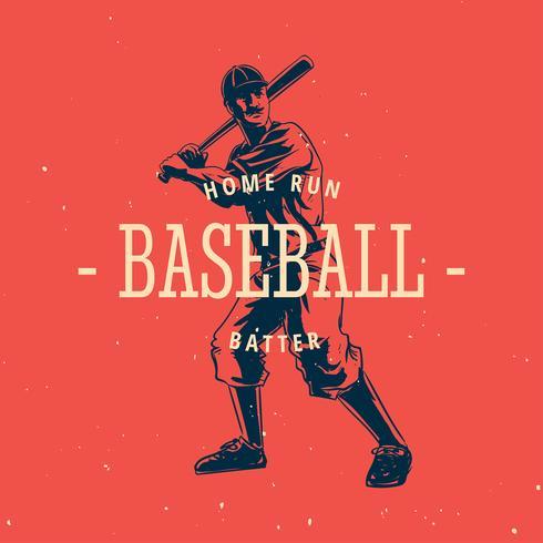 Baseball vecteur Vintage