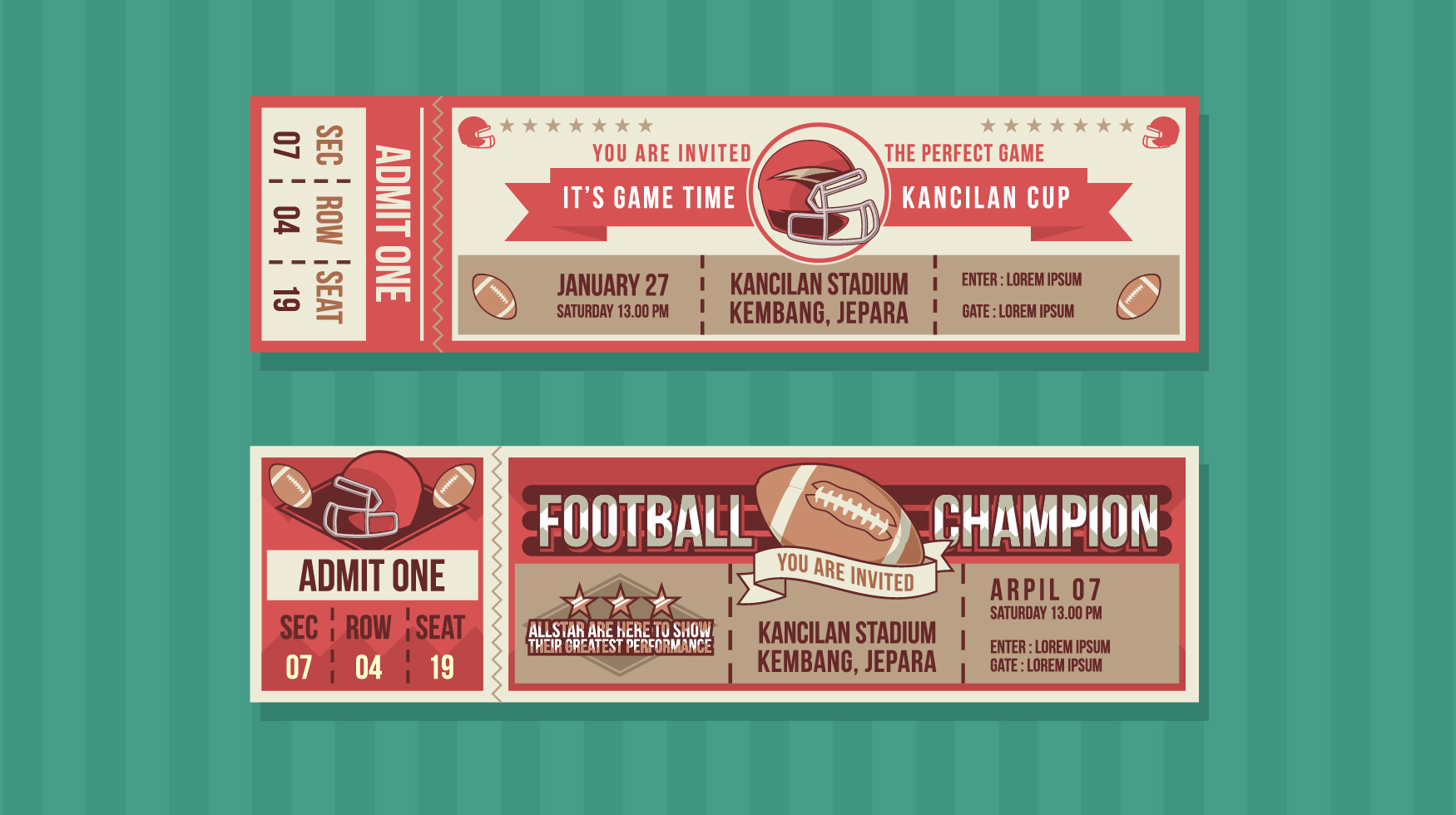 football champion event ticket free vector