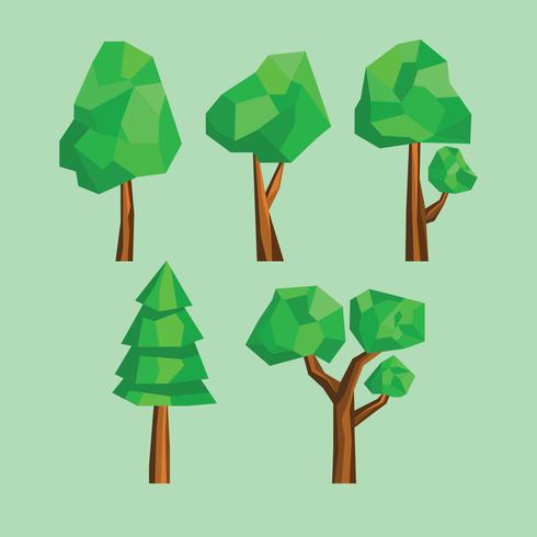 Low Poly Style Trees