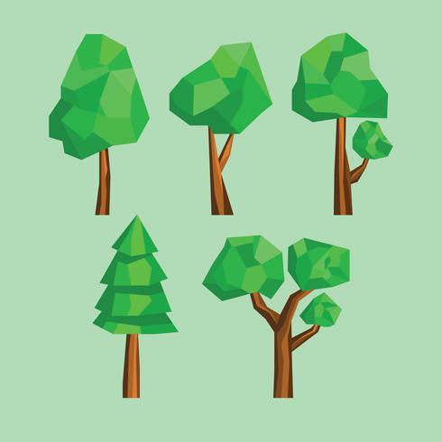 Árvores de baixo estilo poli