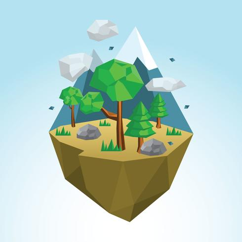 Float Low Poly Wald
