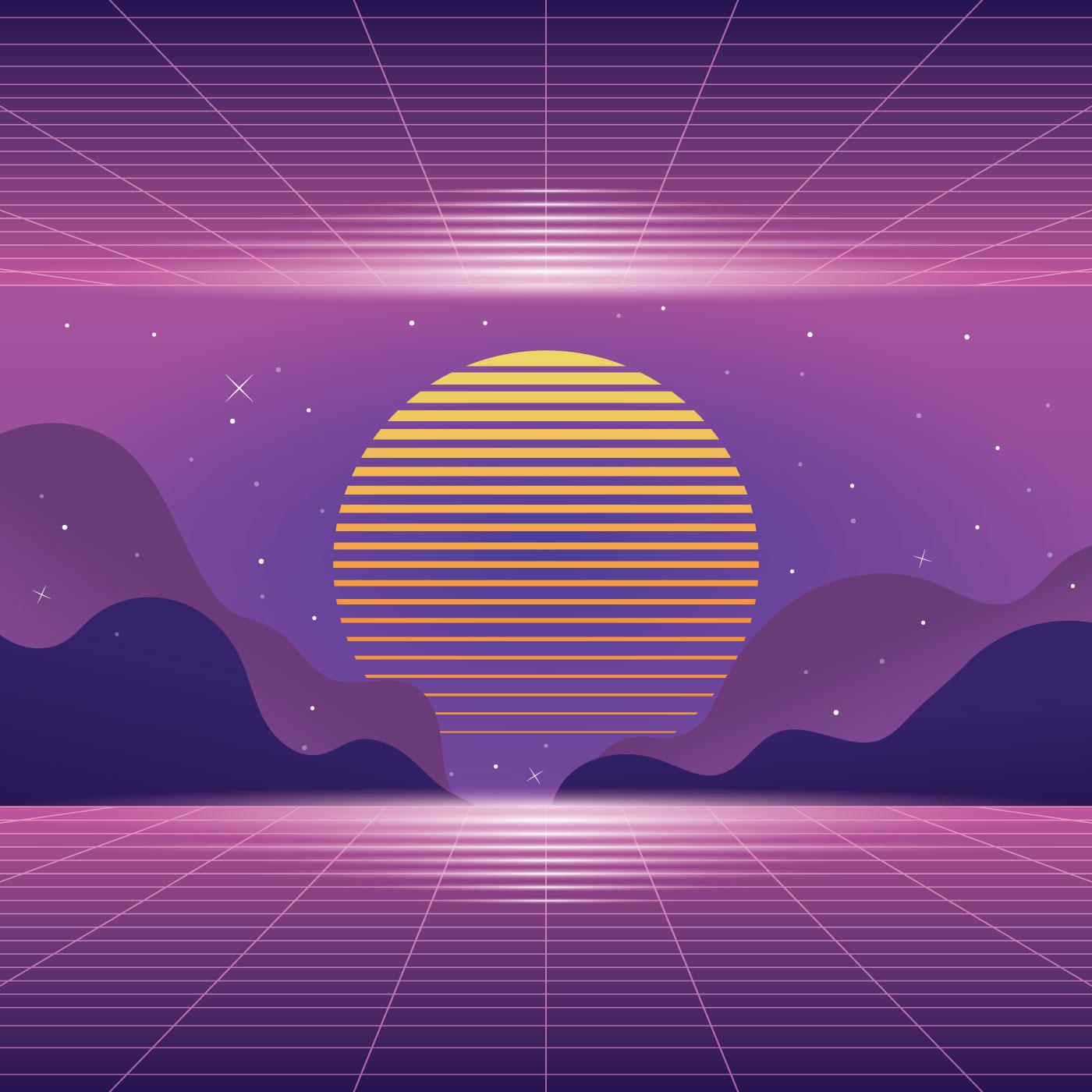 Vaporwave Background Free Vector Art 29 Free Downloads