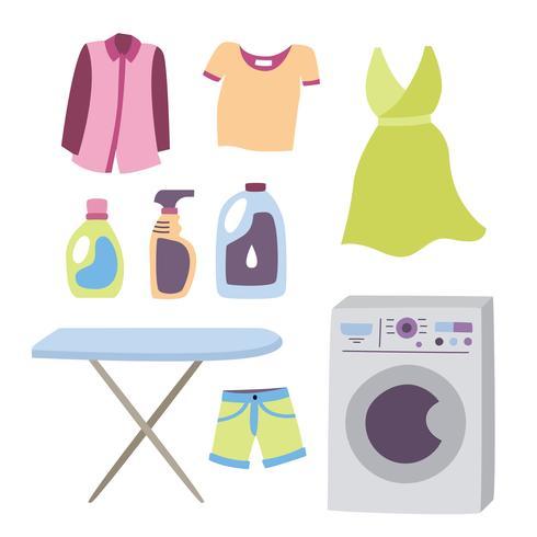 Washing Machine and Laundry Vector