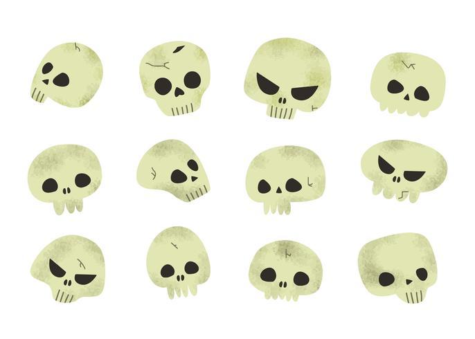 Scary Halloween Skulls Vector