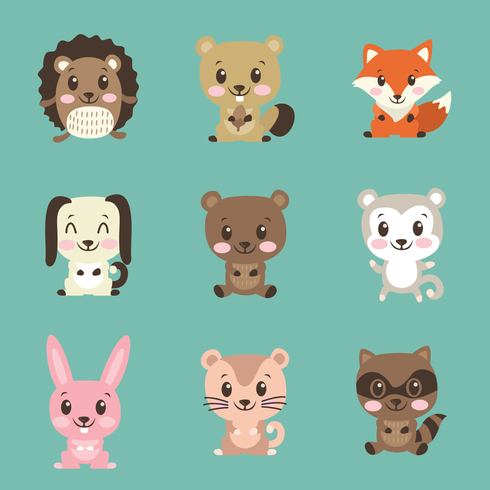 Lindos Critters vector