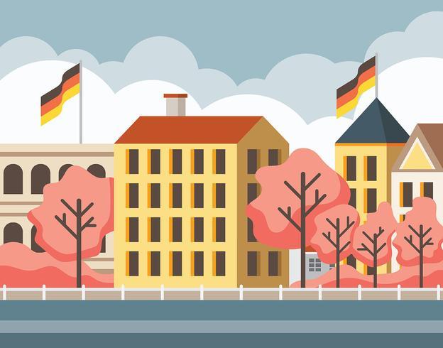 Lente Bonn Duitsland Illustratie