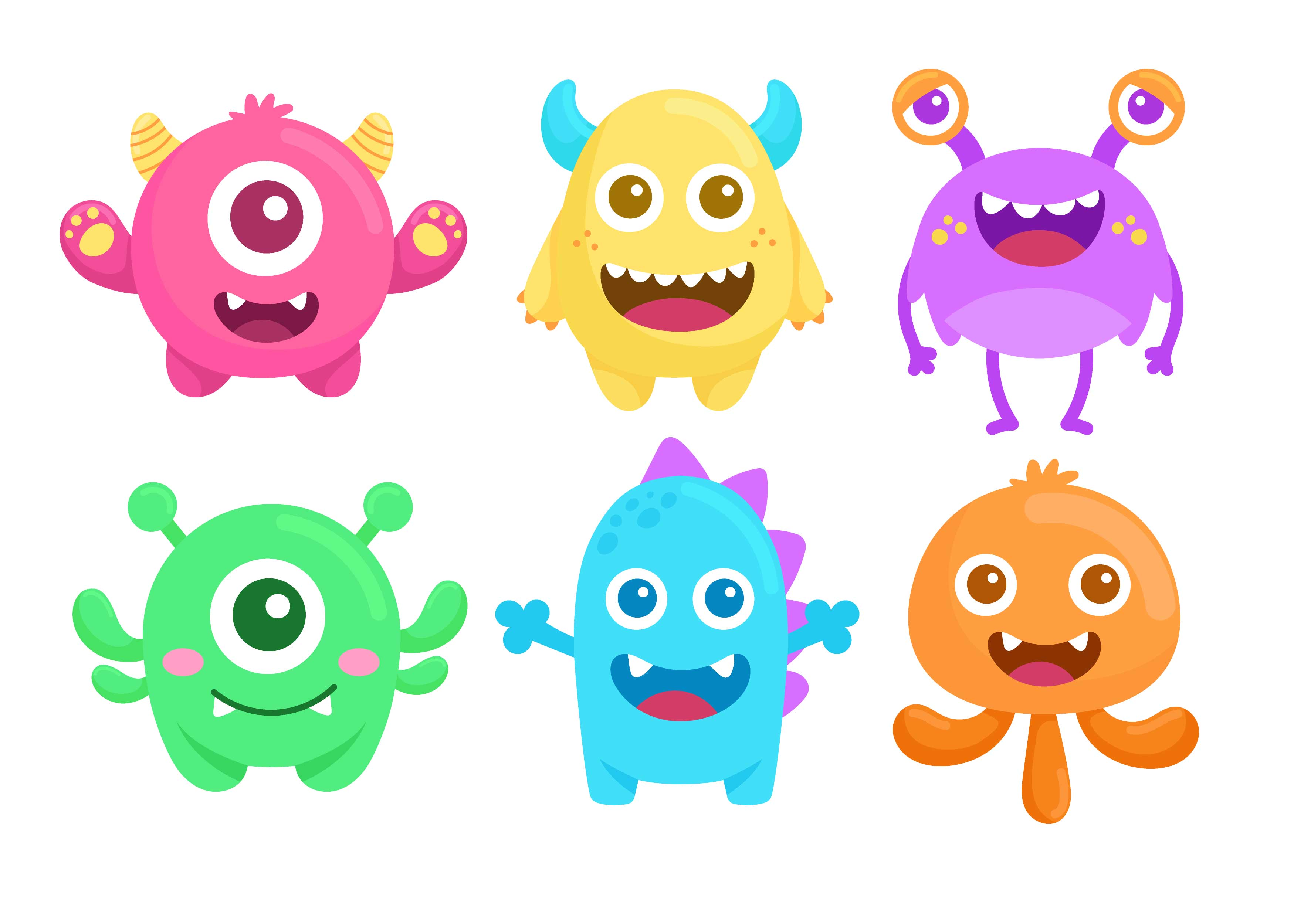 monsters cute vector monster clipart clip drawings graphics icons illust