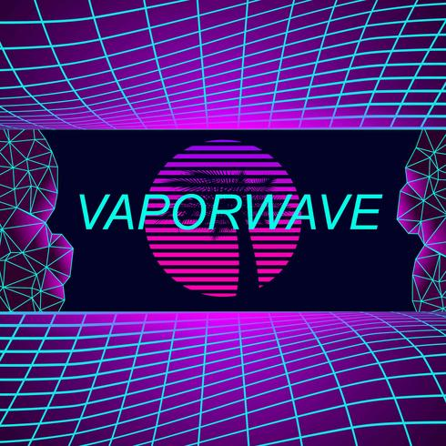 Vaporwave Background - Download Free Vectors, Clipart