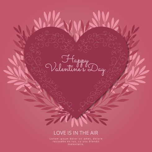 Vector Valentine's Day Composition