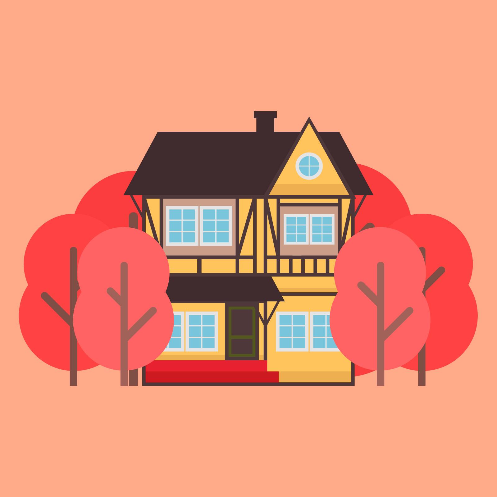 Картинка дом векторная графика