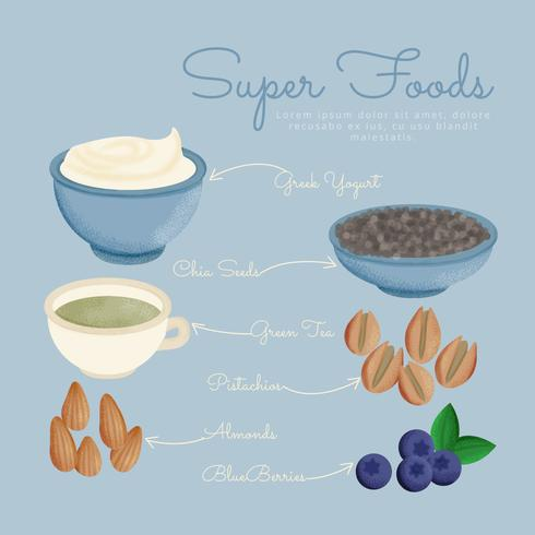 Vector Super Foods Illustration