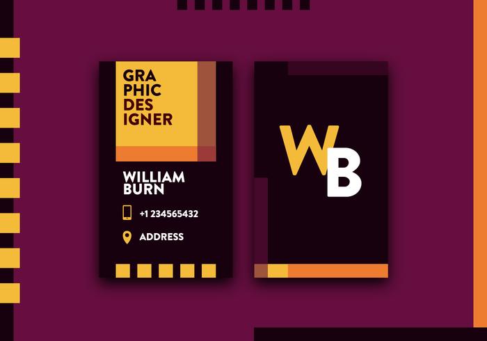 Grafische ontwerper visitekaartje Vector