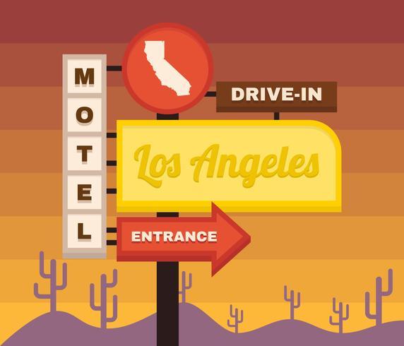 Creative Vintage Los Angeles Vectores