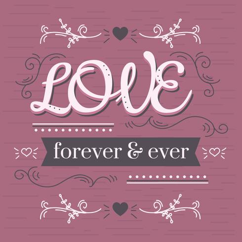 Love Forever & Ever Vector