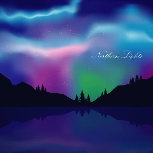 Illustration de paysage Northern Lights