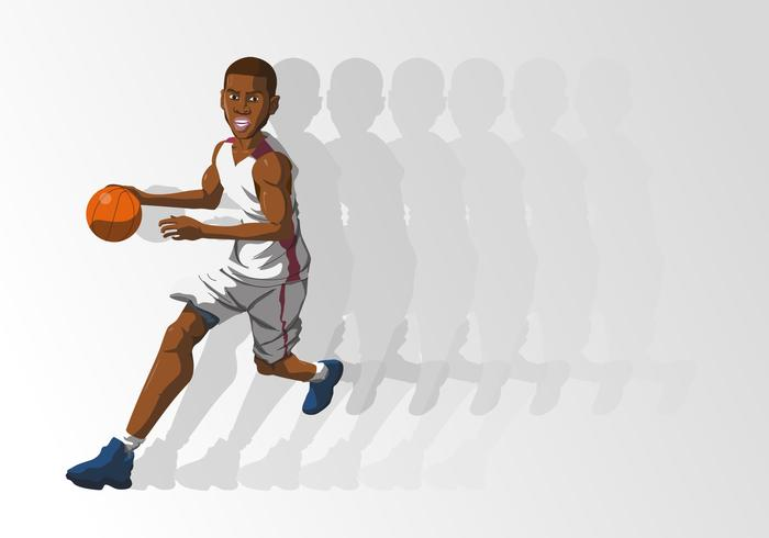 Un joueur de basket-ball tenant une balle