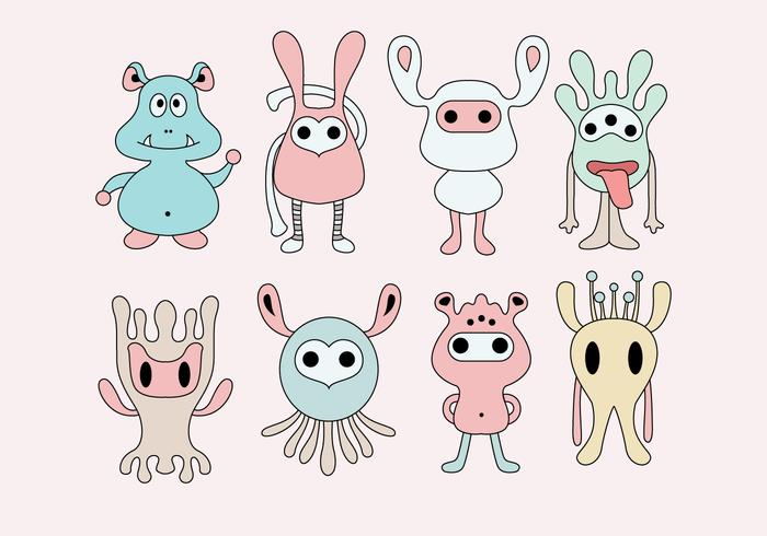 Cute Critters Vector