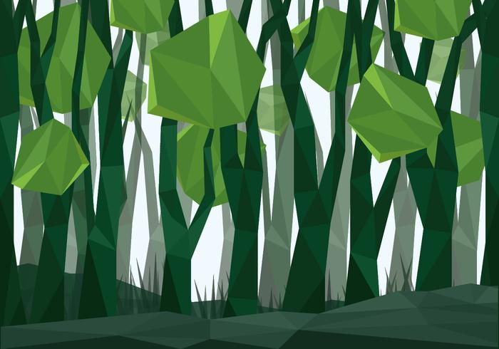 vettore low poly forest