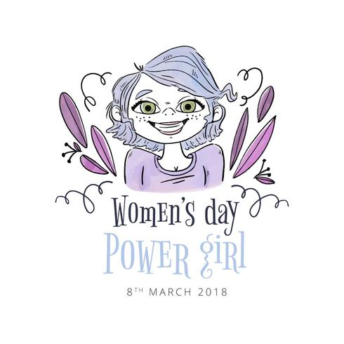 Colorful Woman Smiling With Leaves Flying To Women27;s Day - Download Free Vector Art, Stock Graphics & Images