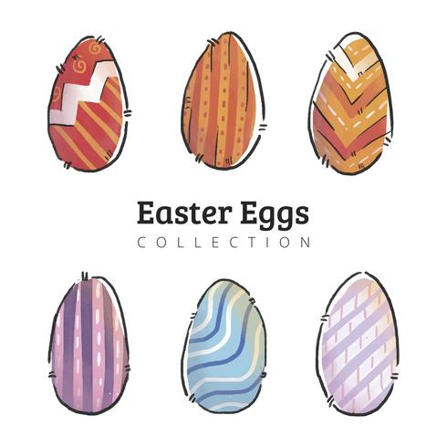 Nette Eier Ostern Sammlung
