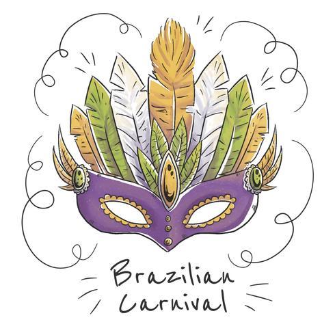 Brasilianische Maske zum brasilianischen Karneval