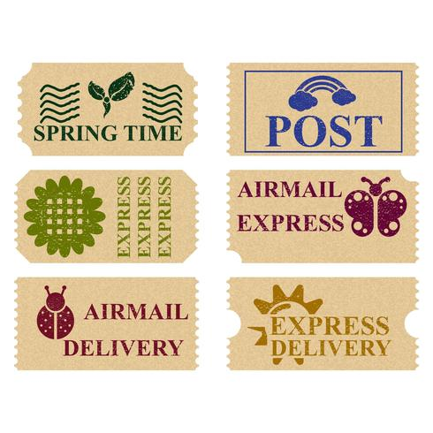 Timbres-poste printaniers