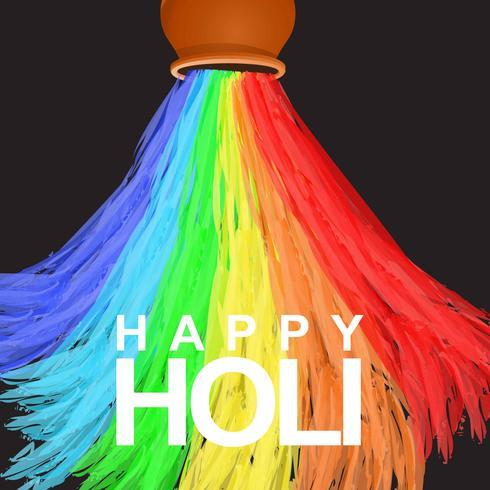 Happy Holi Water Color