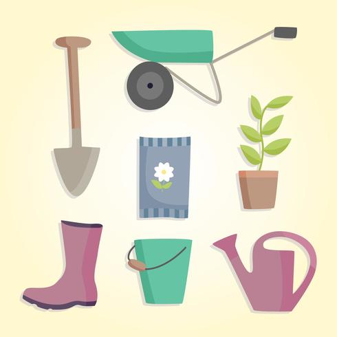 Gardening tools vector download free vector art stock for Different tools and equipment in horticulture