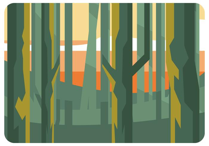 Low Poly Forest at The Afternoon