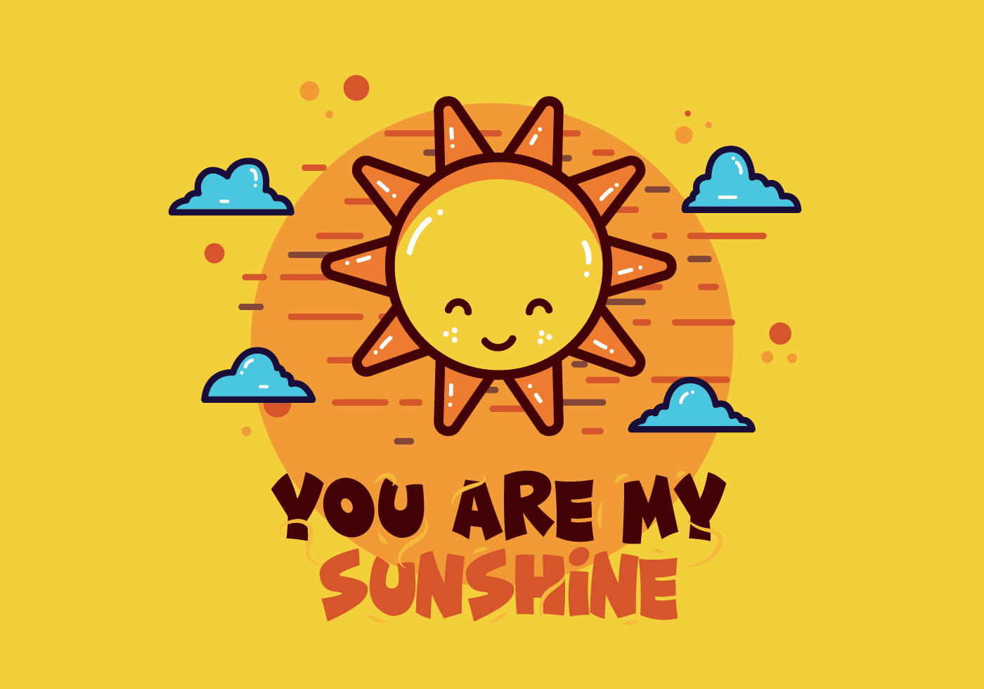 You are my sunshine vector - Download Free Vectors ...