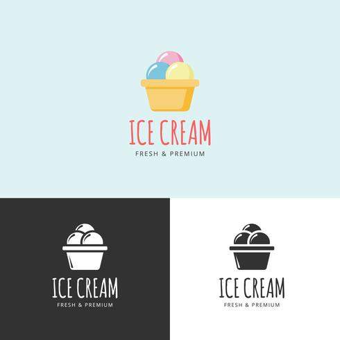 Ice Cream Shop Logo vektor